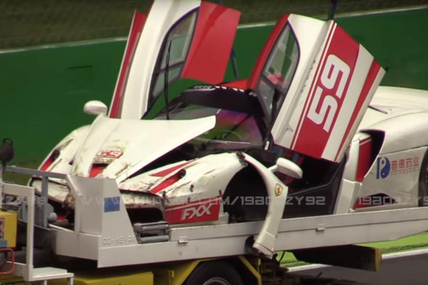 Ferrari FXX Evoluzione damaged