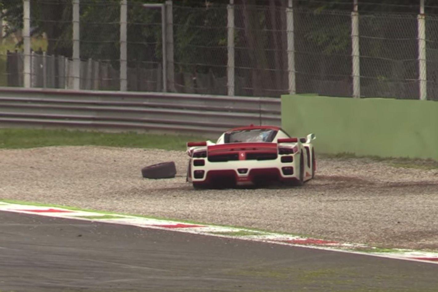 Ferrari FXX Evoluzione crashed