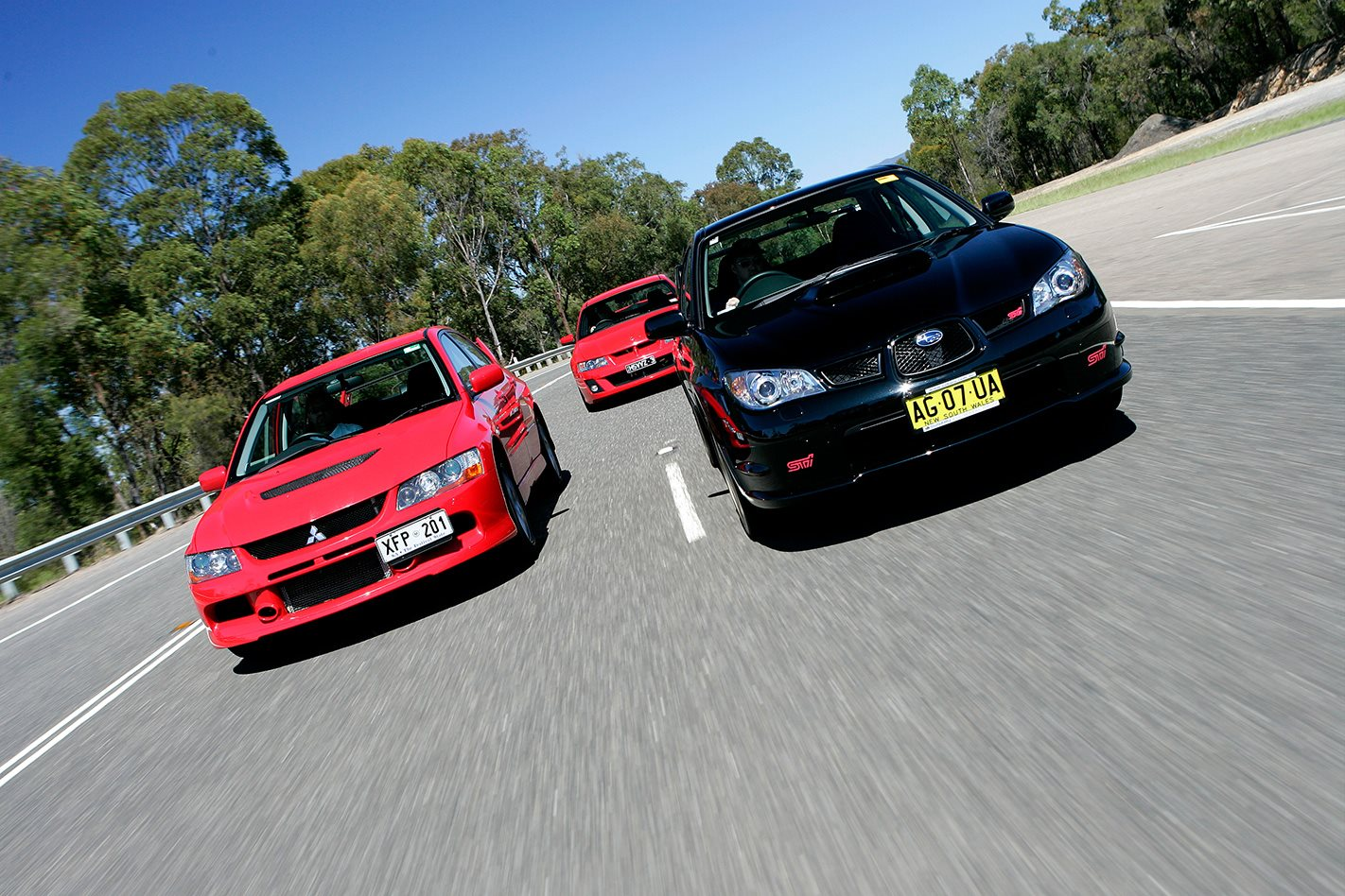 subaru wrx sti vs mitsubishi evo ix vs hsv clubsport. Black Bedroom Furniture Sets. Home Design Ideas