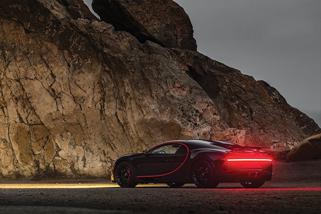2018 Bugatti Chrion number 1 rear lights