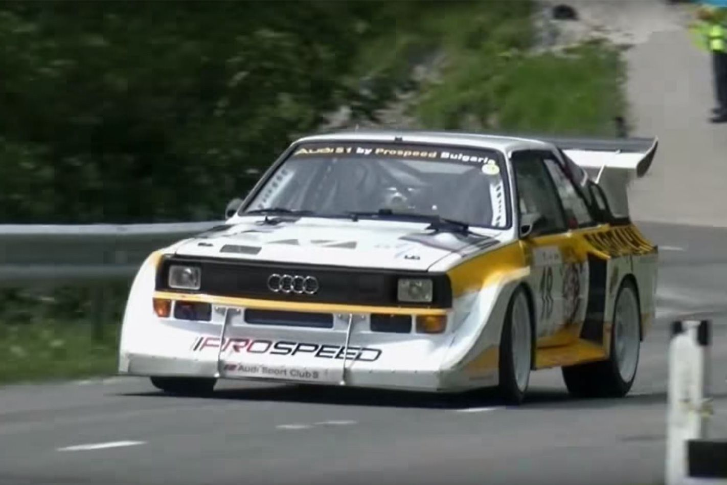 this audi quattro hillclimb compilation is an auditory treat motor. Black Bedroom Furniture Sets. Home Design Ideas