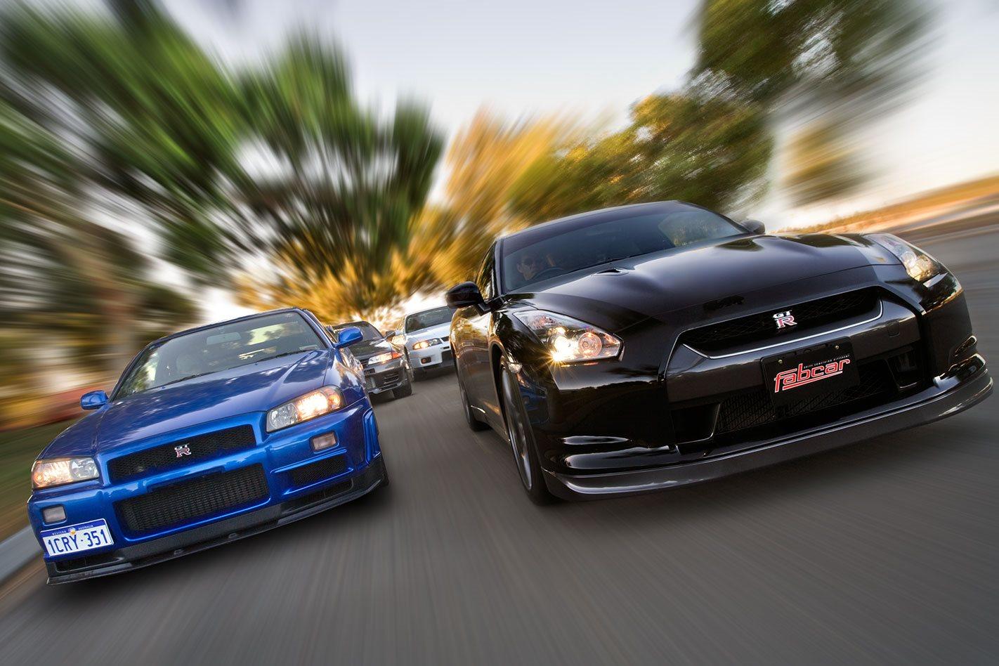 Nissan gt r r32 vs r33 vs r34 vs r35 comparison classic motor