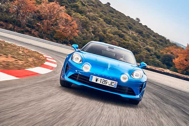 Alpine A110 front lights on