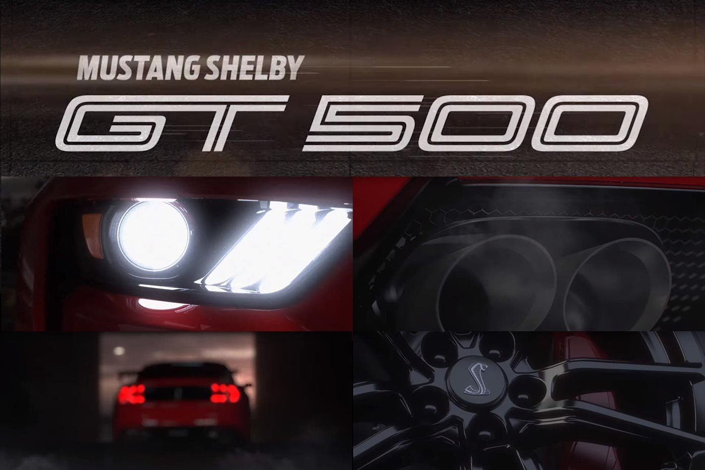 ford mustang shelby gt teased motor