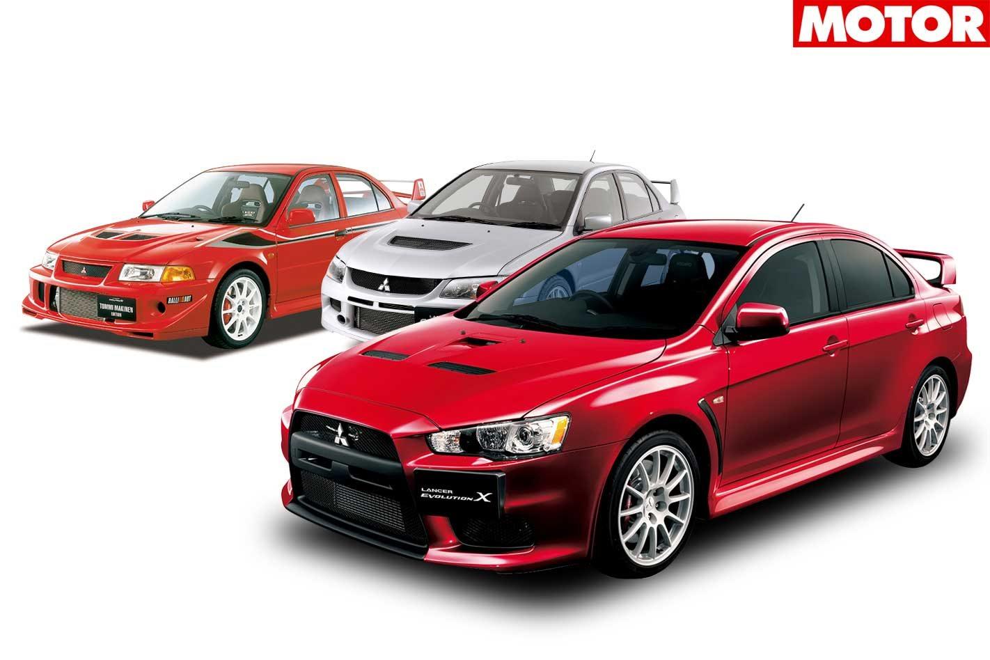Mitsubishi Evolution X Vs Evo Vi Tme Vs Evo Ix On Track Classic Motor