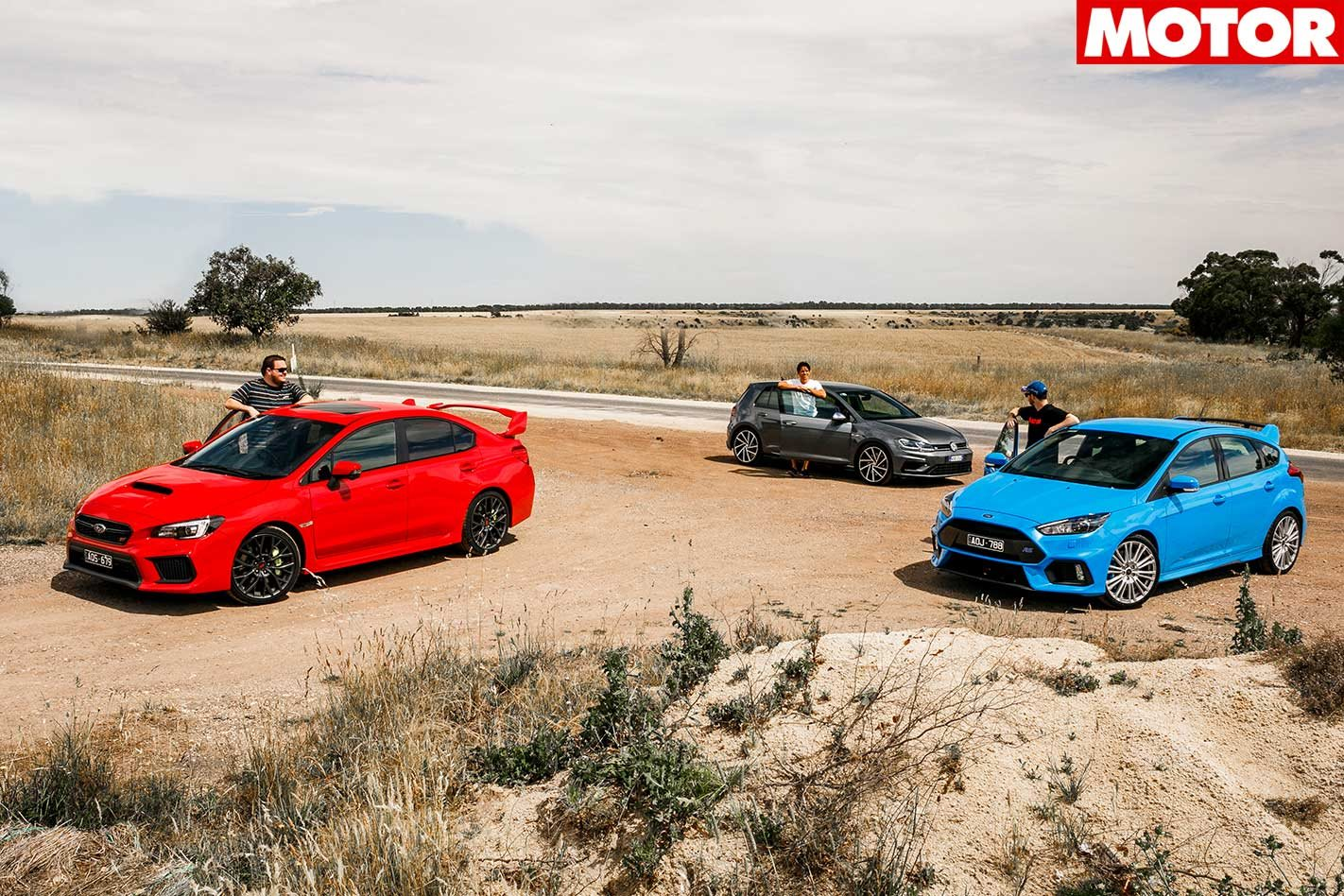 2018 Ford Focus Rs Vs Subaru Wrx Sti Vs Volkswagen Golf R Comparison Review