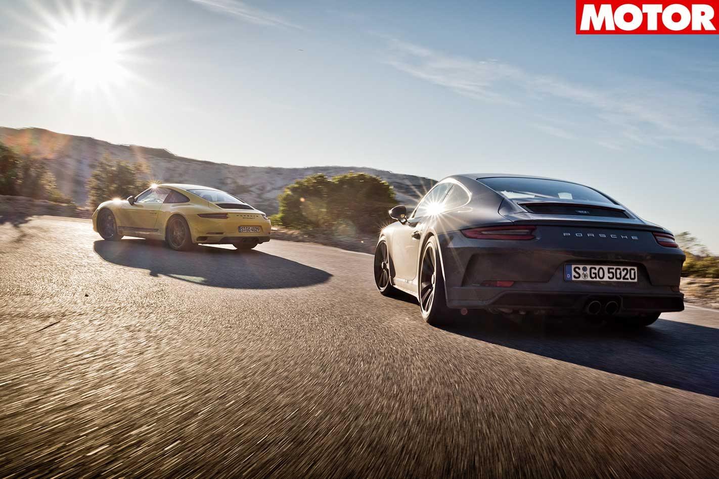 574f2e1ad305 2018 Porsche 911 GT3 Touring vs 911 Carrera T comparison review