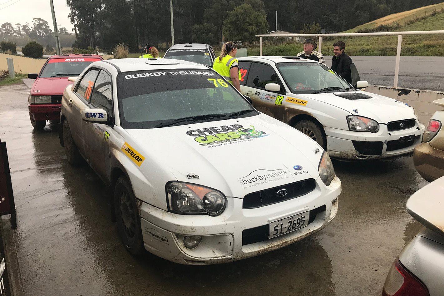 Subaru Impreza RS finish