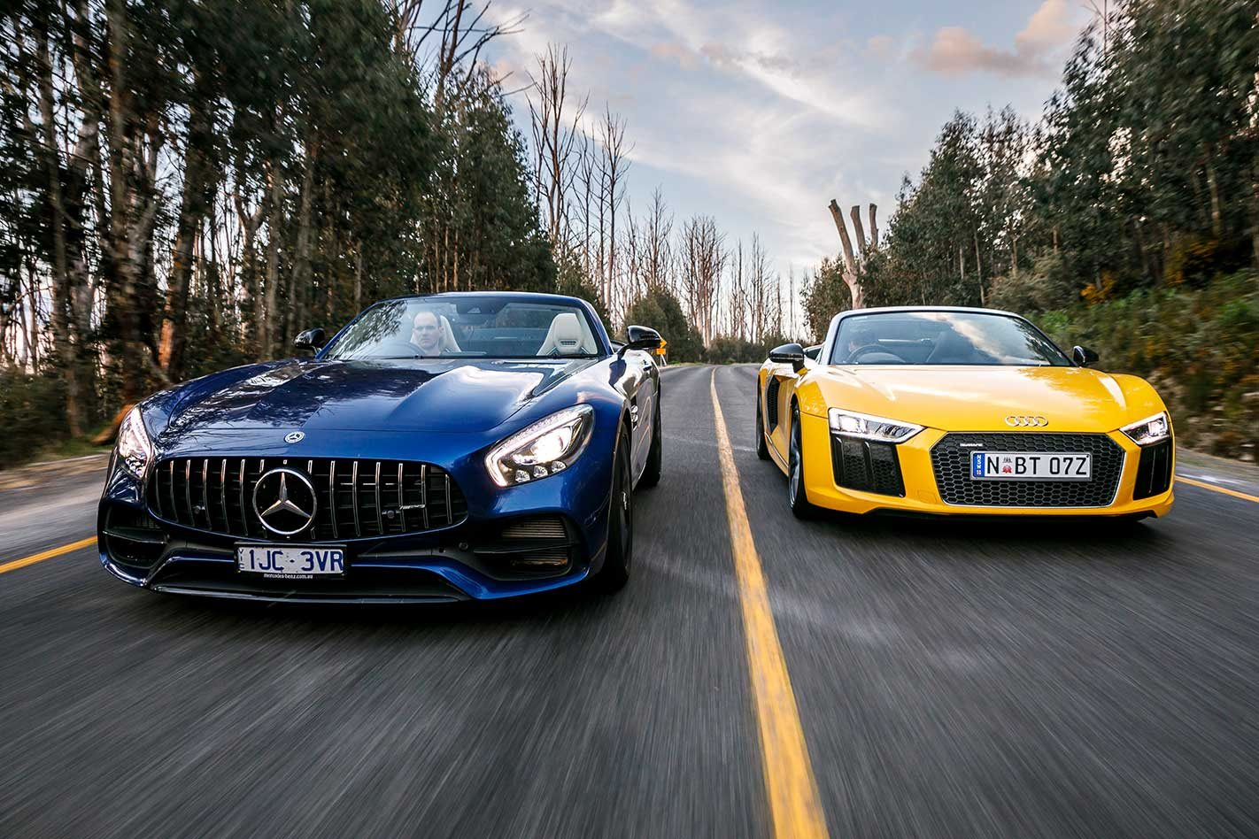 2018 Audi R8 V10 Spyder Vs Mercedes Amg Gt Roadster Performance