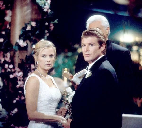 **Brooke and Thorne**  This marriage was a short-lived one when it was discovered that Thorne's previous wife Mac,y who was presumed dead, was actually alive.