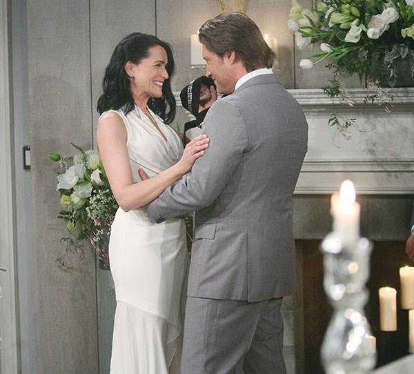 **Deacon and Quinn**  The wedding of Deacon and Quinn surprisingly went ahead even though Brooke crashed the wedding halfway through with Hope in an attempt to stop the nuptials. The marriage didn't last and the couple split.