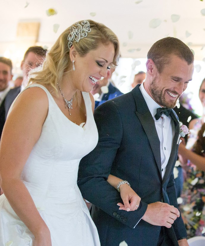 They were all smiles on their wedding day but things quickly turned sour for Clare and Jono.