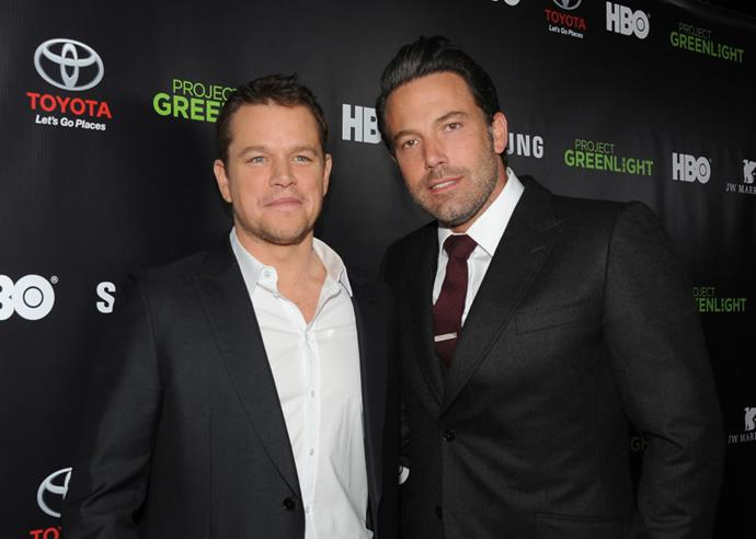 Matt Damon and Ben Affleck shared a room in Boston while writing Good Will Hunting.