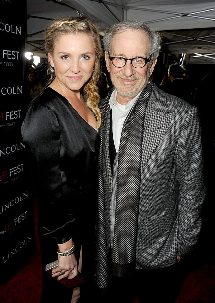 Grey's Anatomy star Jessica Capshaw is the step-daughter to legendary director Steven Spielberg. Her mother Kate married Spielberg in 1991.