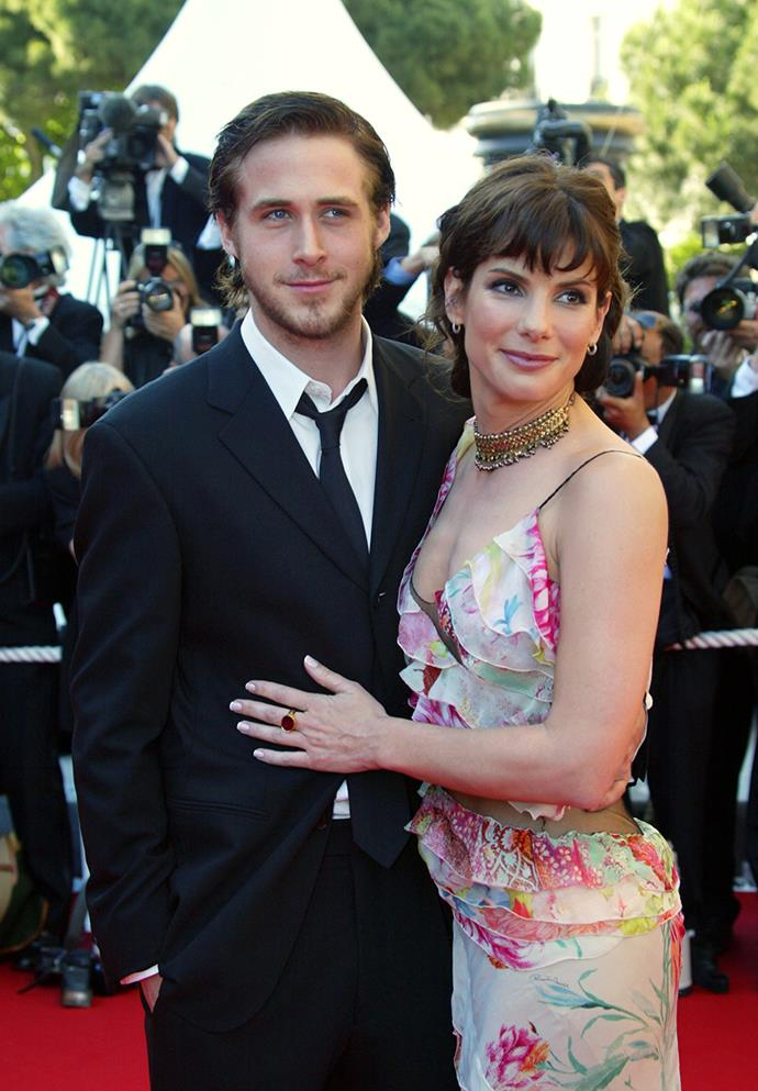 **Ryan Gosling & Sandra Bullock**  Nowadays, Ryan plays happy families with his long-time love Eva Mendes and their baby girl Esmeralda, but rewind 12 years and he enjoyed a one-year fling with Sandra Bullock.