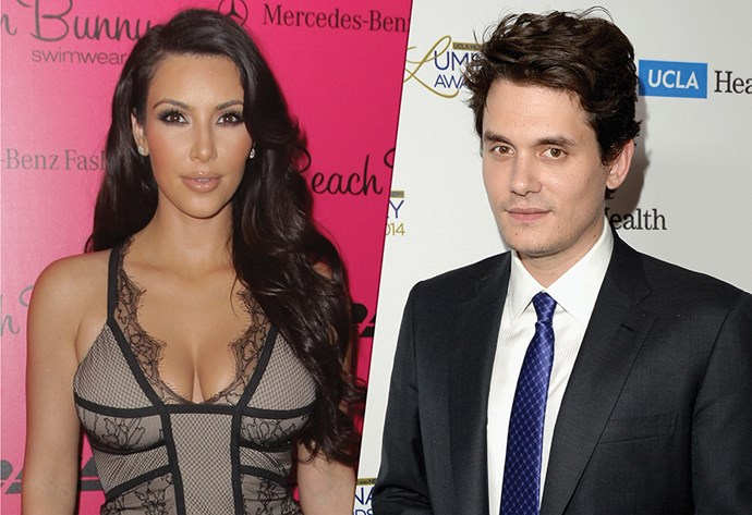 **Kim Kardashian & John Mayer**  Kim had a one-off date with serial ladies' man John back in 2010 'to see if they would hit it off ,' says a mole.