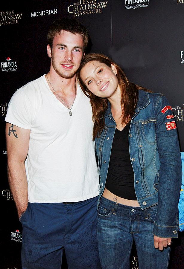 **Chris Evans & Jessica Biel**  They hit it off on the set of 2004's Cellular, but their romance lasted just two years.