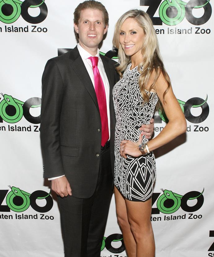 Eric with his wife Lara Yunaska.
