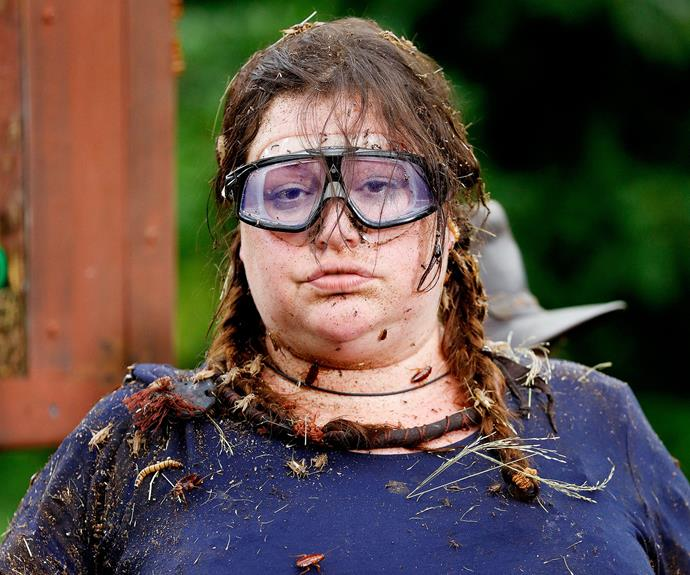 She then came back into the public eye when she appeared on the 2017 season of *I'm A Celebrity Get Me Out Of Here.* *(Image: Network Ten)*