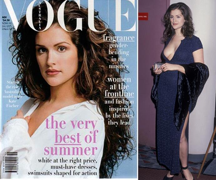 """Her move to LA was a shock, considering her fame and power in Australia. Kate was one of the most sought after models, described as the """"next Elle Macpherson."""" *(Images L-R: Vogue, Getty Images)*"""