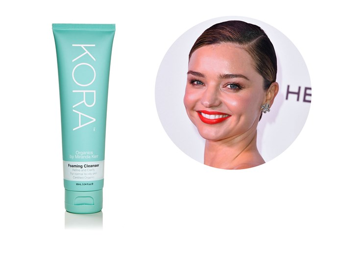 The Kora Organics foaming cleanser is a must-have for mum Miranda Kerr, who uses it in her morning shower. The gentle formula is soap free, and is formulated to protect the skin from free radicals through the blend of Aloe Vera, Green Tea and Sandalwood. *[KORA Organics Foaming Cleanser, $44.95](http://www.koraorganics.com/)*