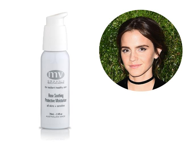 """There's an amazing brand called MV Organic Skincare that I buy online,"" Emma raved, ""I have the most unbelievably sensitive skin so I love this moisturiser. It's extra hydrating and smells of roses, which is heaven."" *[MV Organic Skincare Rose Soothing & Protective Moisturiser](https://www.mvskincare.com/collections/moisturisers/products/rose-soothing-protective-moisturiser)*"