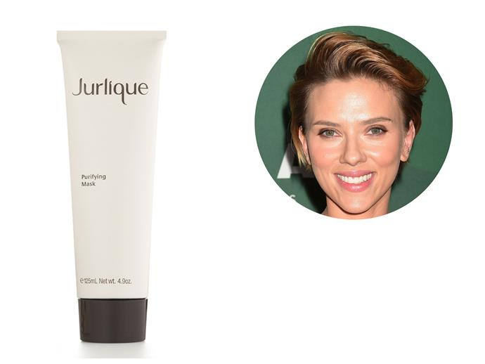 Scarlett Johansson swears by this face mask to soothe irritated and congested skin. The Jurlique Purifying Mask is biodynamically harvested in the Adelaide Hills of South Australia without the use of pesticides and herbicides. *[Jurlique Purifying Mask, $80](http://www.jurlique.com.au)*