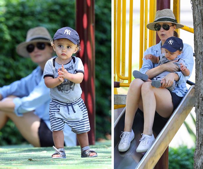 Rocco, who has just turned one, is the spitting image of his actor father.