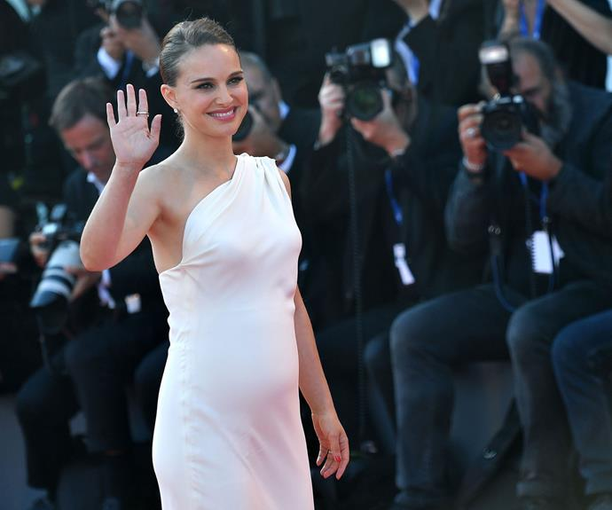 Natalie Portman announced that she would be becoming a mum for the second time when she stepped out on the Venice Film Festival red carpet showing off a burgeoning bump.