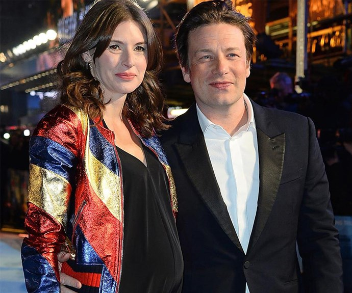 They've since welcomed their fifth child, adorable son River Rocket, but back in March, Jamie Oliver's wife Jools debuted her prominent baby bump at the European Premiere of *Eddie The Eagle* at Odeon Leicester Square.
