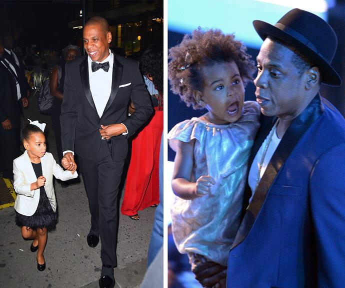 Blue is a total daddy's girl and the rapper says becoming a father has been the making of him.