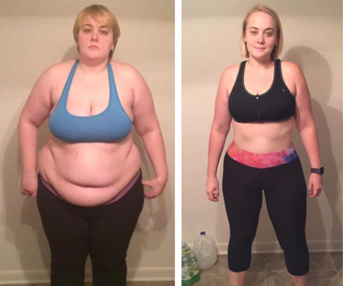 At 135kg, Jill knew she needed to make a huge lifestyle change to get to a healthier weight. So she did just that, taking on a low-carb diet of meals like ground turkey and vegetables and lifting challenges at the gym. Now 87kg, she maintains her weight with regular trips to the gym and continuing her healthy eating plan.