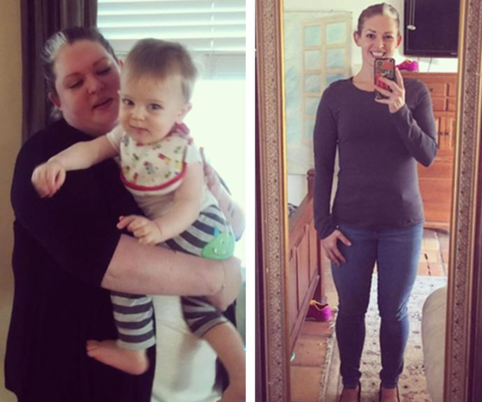 At 134kg, Misty Mitchell wanted to lose weight, but a huge diet overhaul wasn't possible with a tiny tot at home. She cut out all alcohol, and 18 months later she's a slim and toned 72kg!