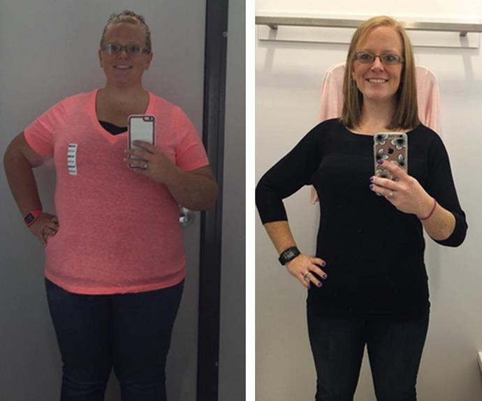Starting at 153kg, Alisha was already well on her way to a healthier lifestyle when she snapped this picture. Prepping a week's worth of meals on Sundays helped her stay on track even when her schedule was crazy. How on track? She's lost almost half of her body weight and now weighs in at 85kg.