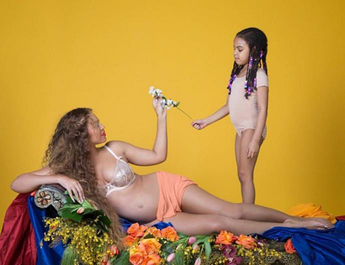After Bey announced that she was pregnant with twins, she decided to share even more snaps from the stunning pregnancy shoot. Even Blue made a cameo!