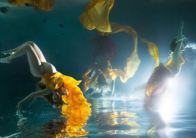 Her underwater posing skills are seriously impressive.