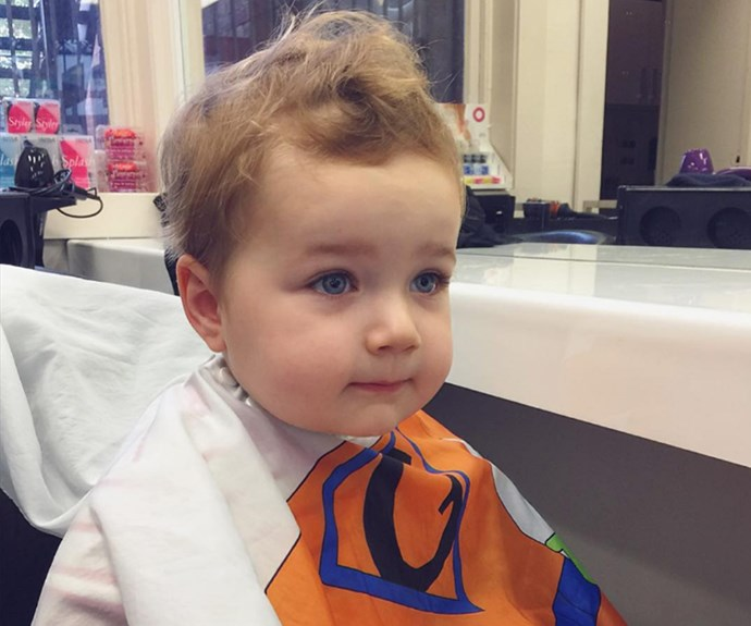 """First haircut a success! Now for the perm and a few youthful highlights!"""