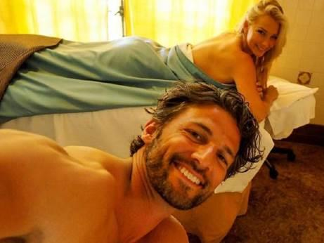 Tim and Anna get pampered with a luxe massage
