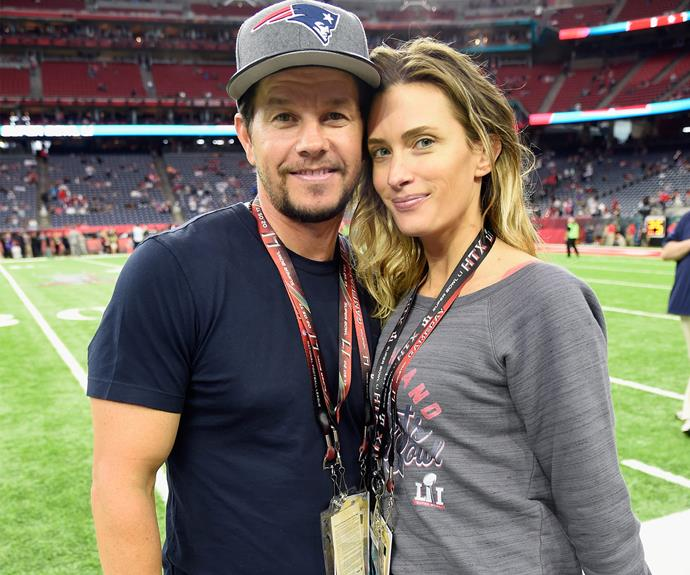 Mark Wahlbergcuddles up to his wife Rhea Durham.