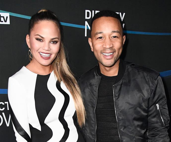 John Legend and Chrissy step out at Super Bowl concert in Houston.