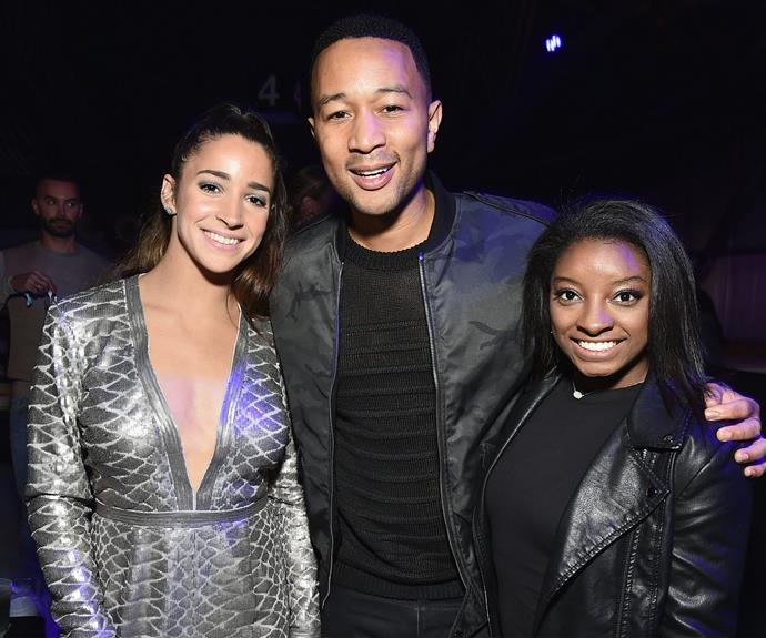 John catches up with US Olympians Aly Raisman and Simone Biles.