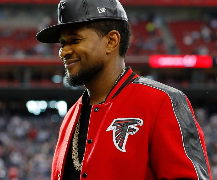 Usher is supporting his Atlanta boys.