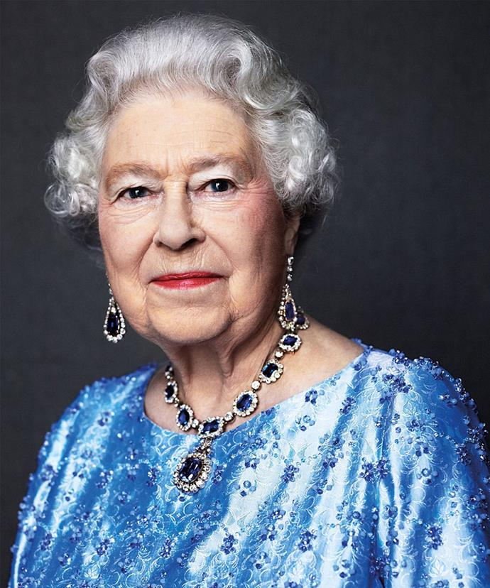 The stunning portrait celebrates Queen Elizabeth.