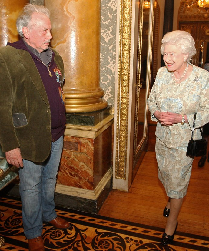 Her Majesty with photographer David Bailey back in 2010.