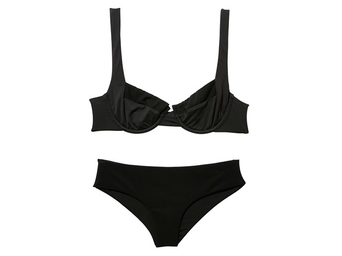 Bikini top, $143, and bottoms, $88, Fella, fellaswim.com