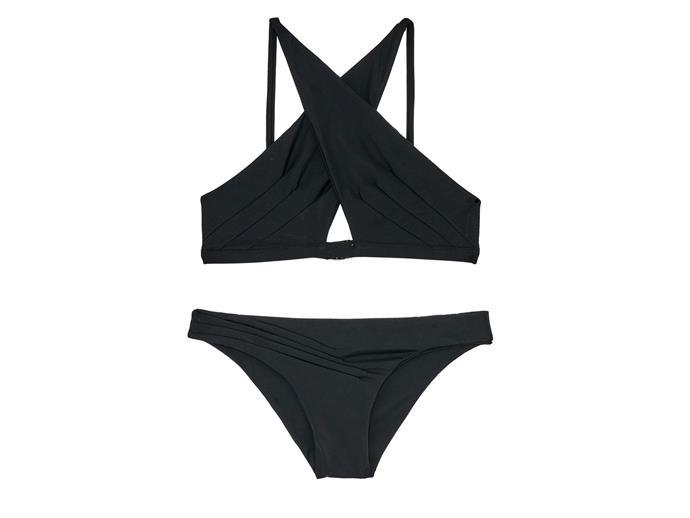Bikini top, $120, and bottoms, $90, Palm, palmswimwear.com