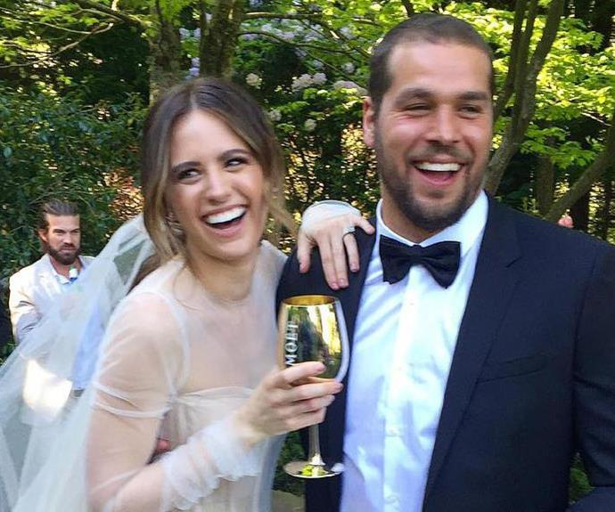 Jesinta & Buddy on their wedding day