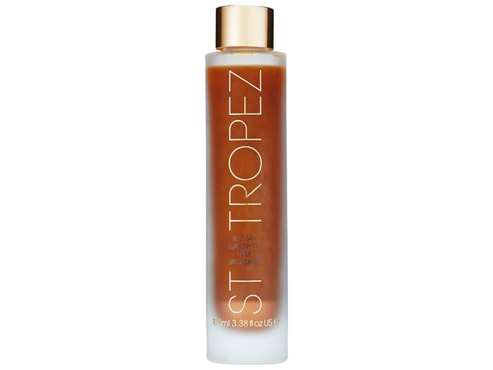 "This tinted oil tanner is easy to apply and dries down to a smooth, natural-looking tan. It's infused with Brazil nut oil to keep skin moisturised and fragranced with essential oils of neroil, lemongrass and grapefruit.   [St Tropez Self Tan Luxe Dry Oil, $49.99](https://www.davidjones.com/Product/20626915?istCompanyId=466a8370-6b00-4f27-87e1-ca6839e80dd6&istItemId=-xpqilpqppt&istBid=t|target=""_blank"")"