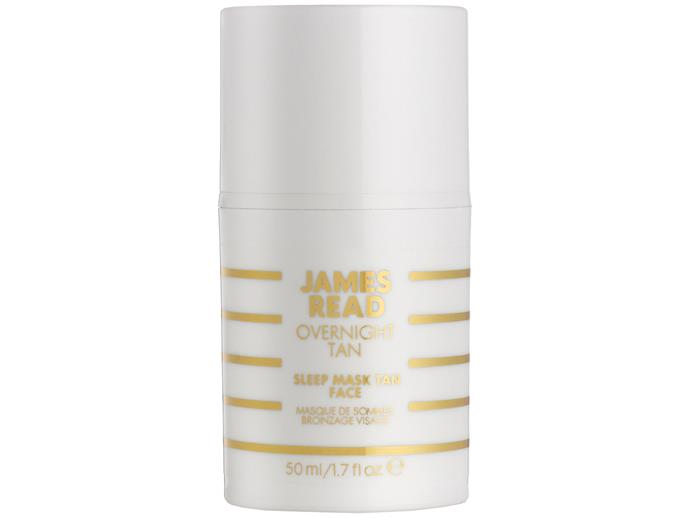 "Besides self-tanning while you sleep (best invention ever) this night mask simultaneously moisturises and hydrates with ingredients like aloe vera and hyaluronic acid, yielding a radiant, sun-kissed glow and all while you get some shut-eye. Genius.   [James Read Overnight Tan Sleep Mask Tan for Face, $46](https://www.mecca.com.au/james-read-tan/sleep-mask-tan-face/I-021972.html|target=""_blank""