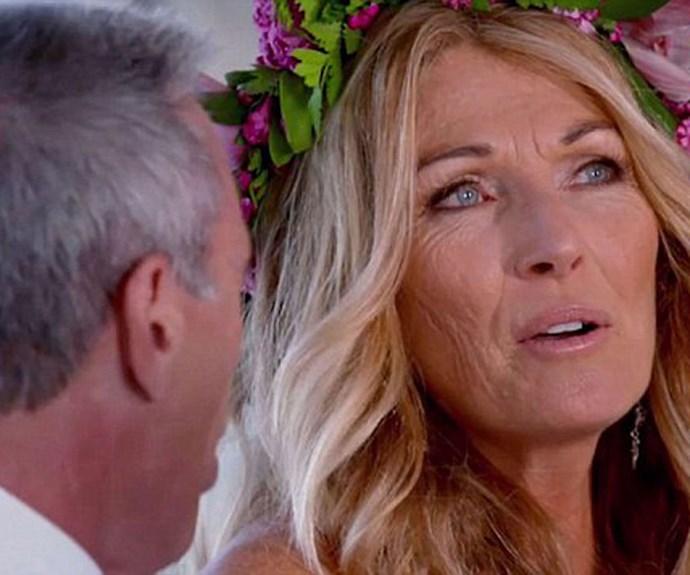 Deb telling John she's sad he's not Polynesian during their wedding.